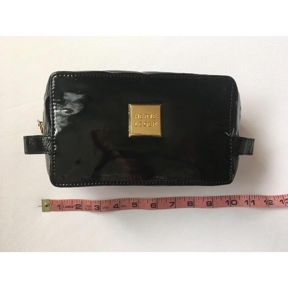 Herve Leger Handbags - NEW Herve Leger Black Patent Cosmetic Makeup Bag